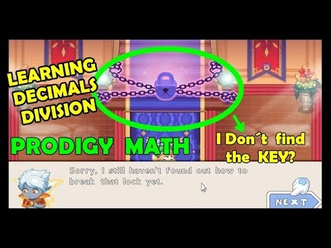 Decimals Division   Prodigy Math Game   🔐🔑Where do I find the key? 🙉