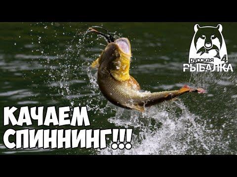 Качаем спиннинг  Русская Рыбалка 4Russian Fishing 4