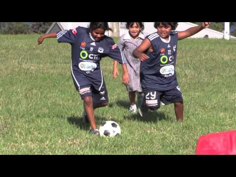 Soccer at  Lake Tyers Trust with Police and Melbourne Victory