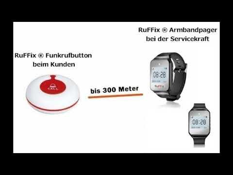 OriginalKundenruf Funkarmbandpager 1x System ® Das Ruffix Funkbutton EI29WHDY