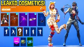 *NEW* Fortnite Skins & Emotes..!! (Female Durr Burger, Electro Swing, Spider Skins)