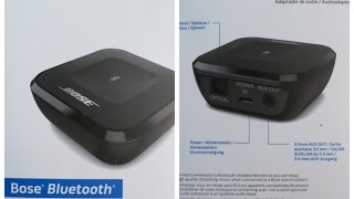 bose bluetooth wireless music audio receiver adapter unboxing review