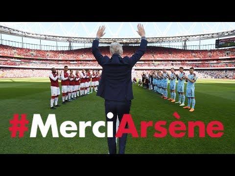 All the angles of Arsene Wenger's emotional farewell speech | #MerciArsene