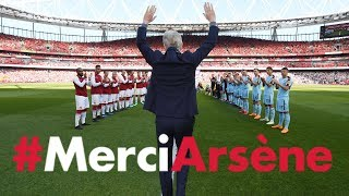 All the angles of Arsene Wenger's emotional farewell speech | #MerciArsene