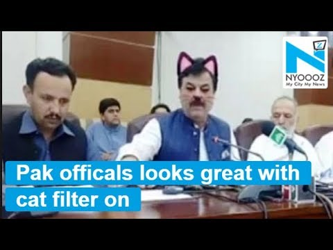 Maria - Pakistani Politician's Live Stream Has Him On Cat Filter