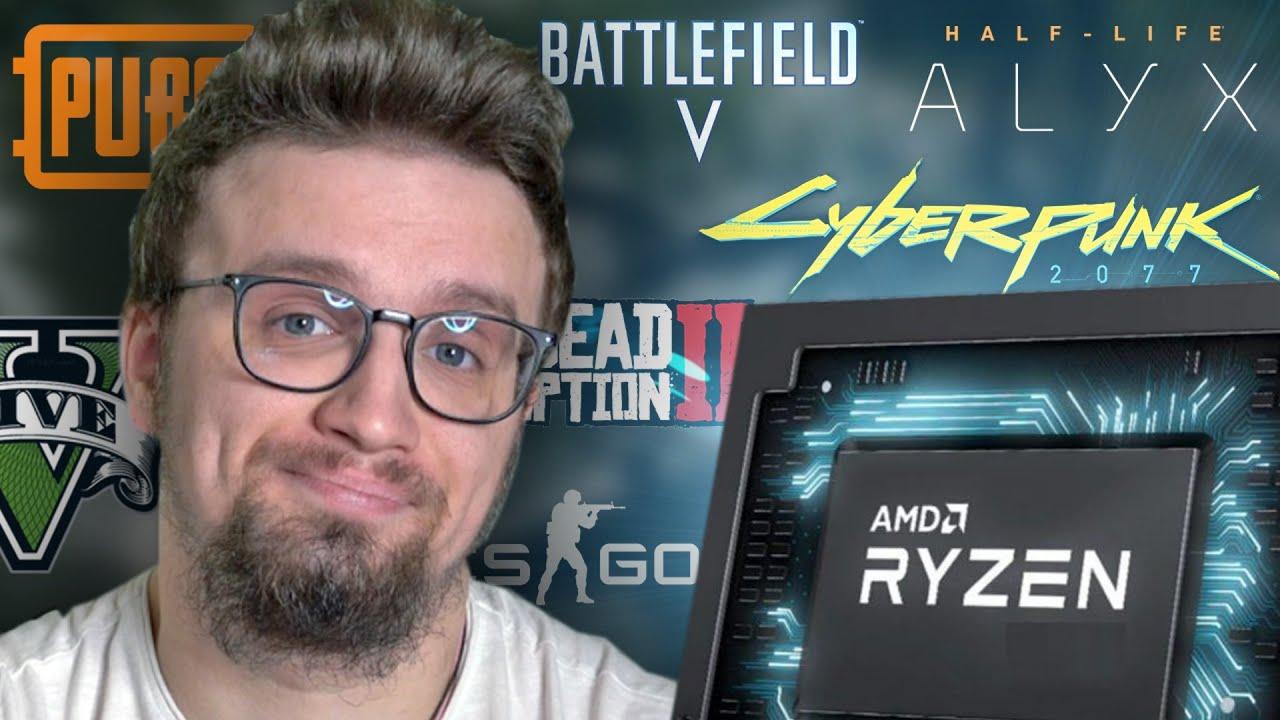 Ryzen 5900HX - СКОЛЬКО FPS В ИГРАХ???