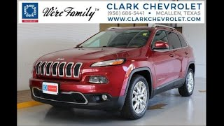 2016 Jeep Cherokee Limited; Stock #: 44645A; Charles Clark Chevrolet - McAllen, TX