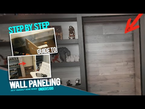 DIY Closet And Bedroom Wall Panels. Fast Bedroom Makeover Ideas. Install Wood Paneling [Part 2] - YouTube