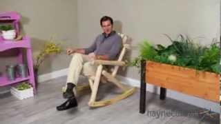 Coral Coast Natural Log Rocking Chair - Product Review Video
