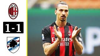 Милан Сампдория 1 1 Обзор Матча Чемпионата Италии 03 04 2021 HD