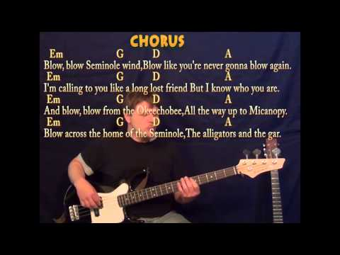 Seminole Wind - Bass Guitar - Cover Lesson with Lyrics