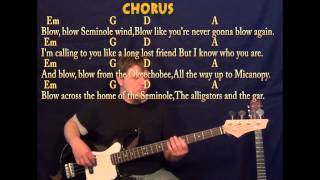 Seminole Wind John Anderson Bass Guitar Cover Lesson with ChordsLyrics