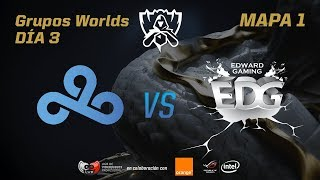 CLOUD9 VS EDWARD GAMING  - GRUPOS - WORLDS 2017 - DÍA 3