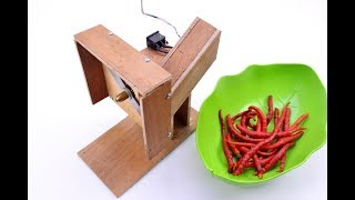 How to Make Chili  Slicer Cutting Machine, You Can Make it at Home