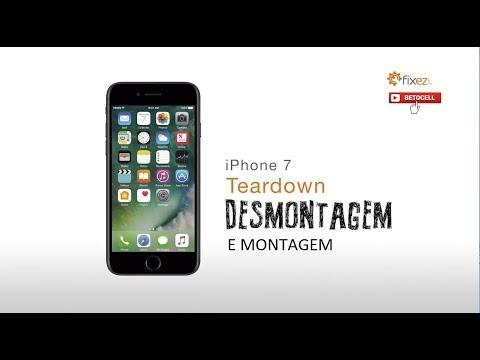 DESMONTAGEM E MONTAGEM DO IPHONE 7 (FIXEZ.COM)