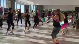 TIPPY TOE -DJ Francis IN KUWAIT-  ZUMBA with ZES KELLY BULLARD