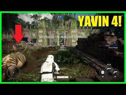 Star Wars Battlefront 2 - Yavin 4 Galactic Assault! | AT-ST gameplay! (All top spots)