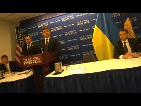 Ukraine PM Volodmyr Groysman answers Itar Tass question #NPCLive