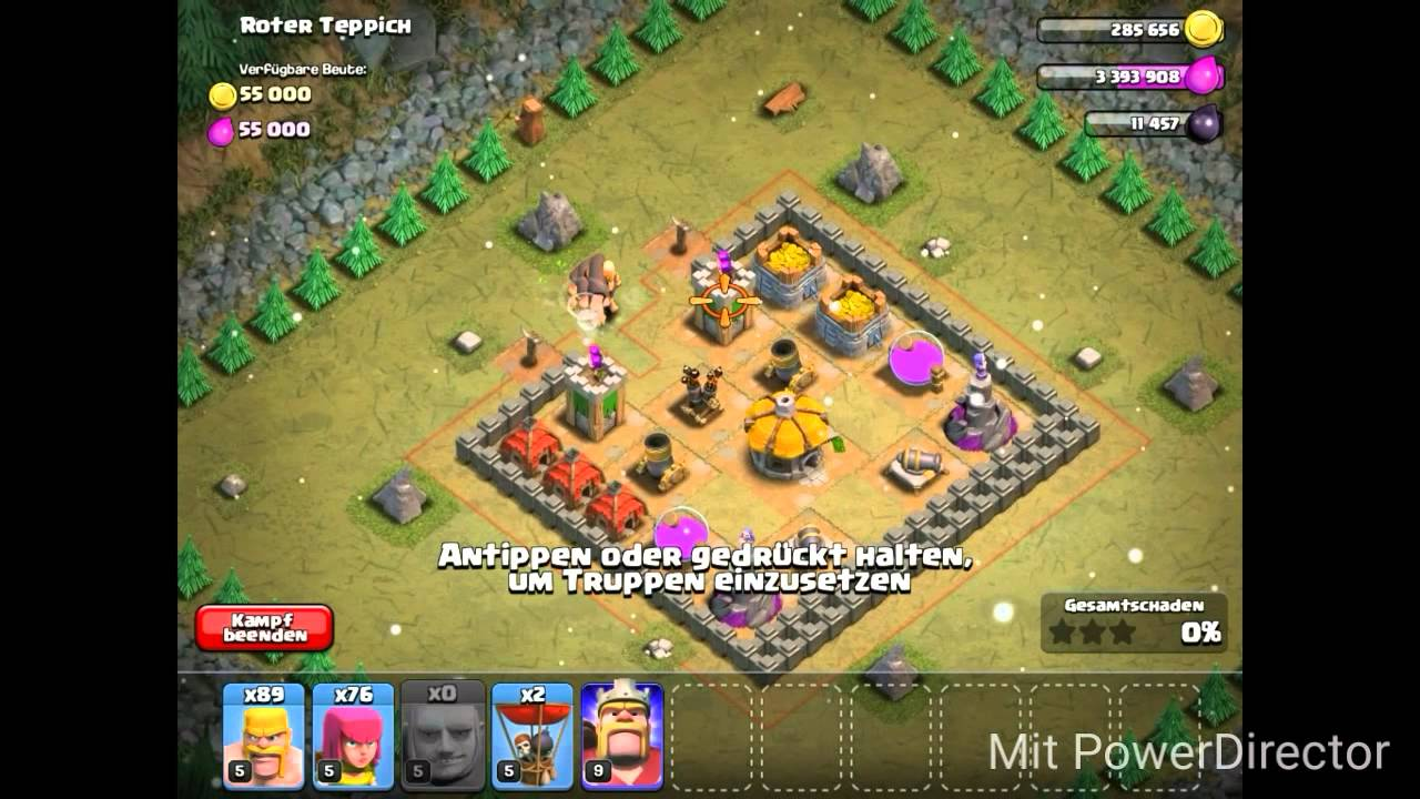 Coc Roter Teppich Clash Of Clans 29 Koboldmission Roter Teppich