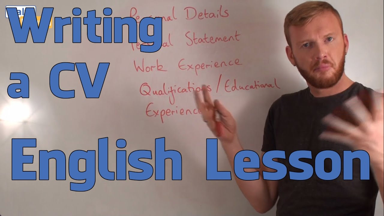 Writing A Cv English Functional Language Lesson Advanced Youtube
