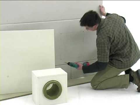 wand und deckendurchf hrung aus brandschutzplatten youtube. Black Bedroom Furniture Sets. Home Design Ideas