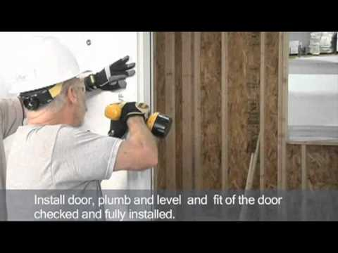 How To Install And Flash A Brick Mold Door Unit Youtube