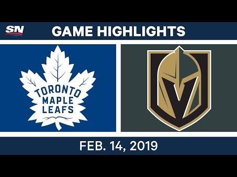 NHL Highlights | Maple Leafs vs. Golden Knights - Feb 14, 2019