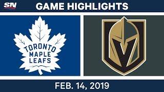 Nhl Highlights | Maple Leafs Vs. Golden Knights   Feb 14, 2019