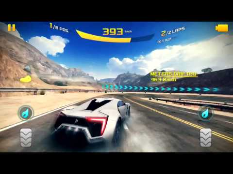 Asphalt 8 Gameplay with Lykan HyperSport