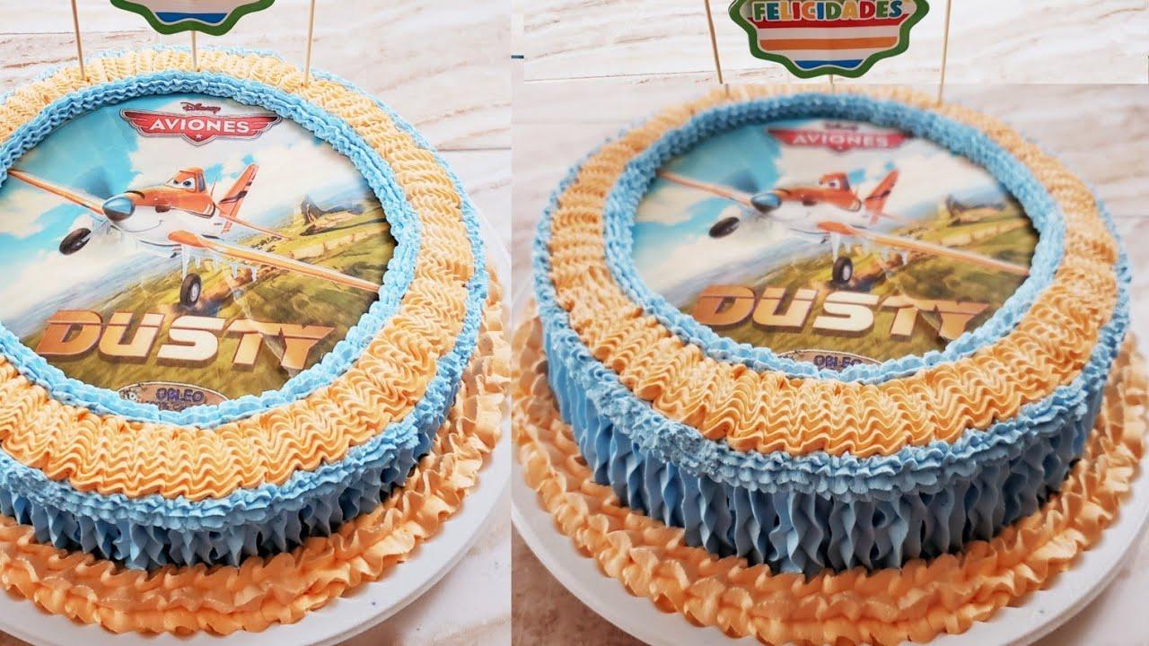 Pastel 3 Leches Con Nuez Decoración Dusty Para Niños Muy Fácil Para Principiantes