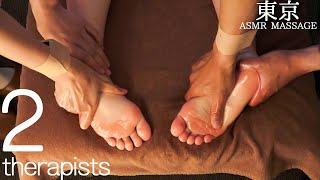 ASMR 二人のセラピストによる足裏・足ツボマッサージ