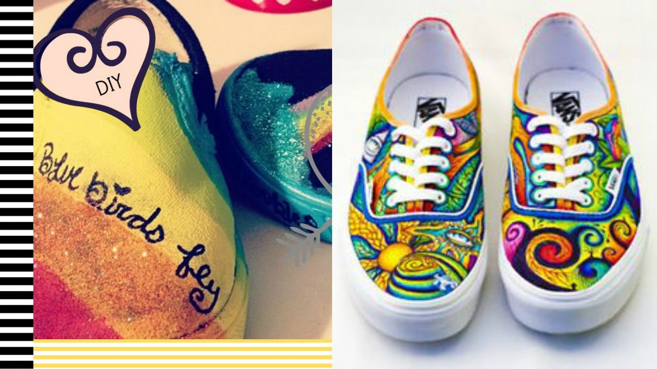 DIY Painted Shoes - 2 Minute Tutorials - YouTube