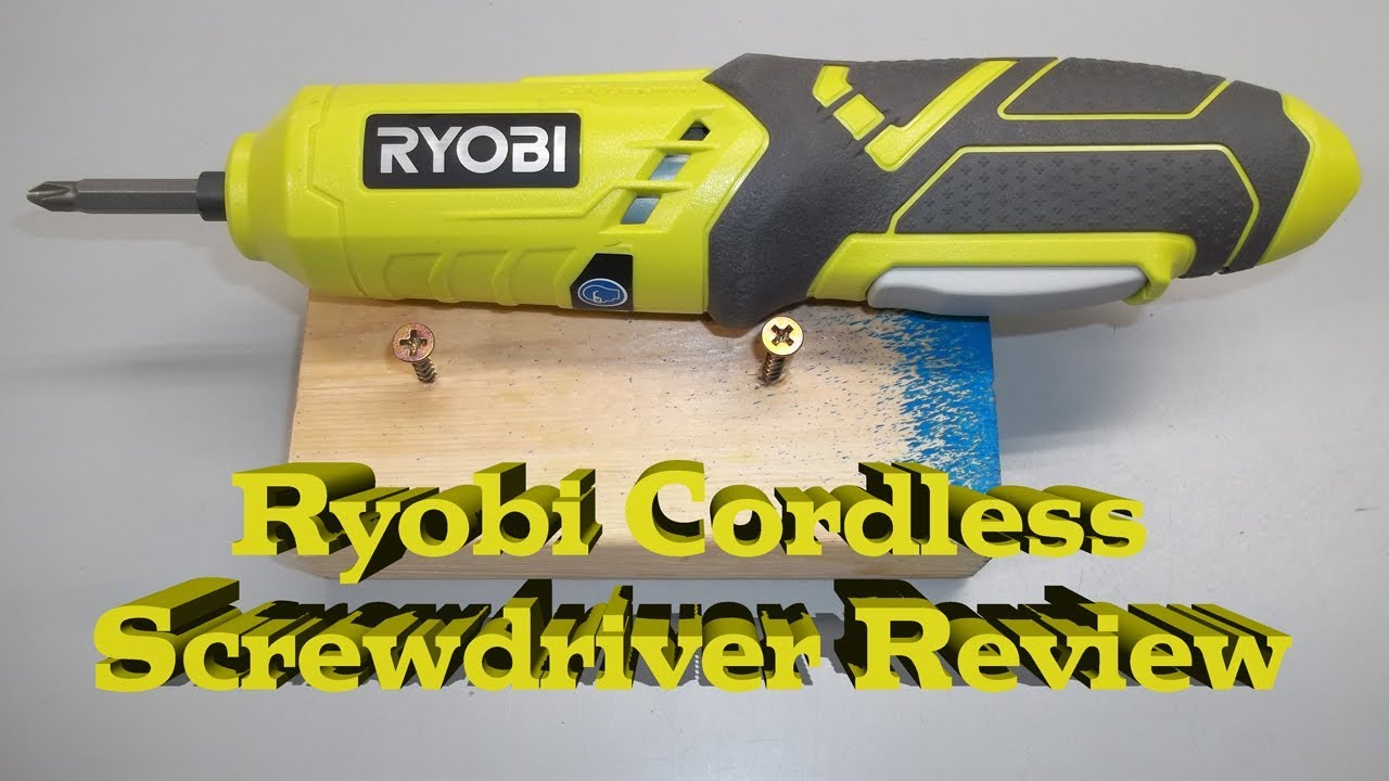 Ryobi 4-Volt Lithium Screwdriver
