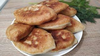 Жареные ПИРОЖКИ с Картошкой на кефире ( быстрое тесто за 5 минут)