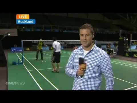 Badminton Challenge - TVNZ - Joe Wu & Ong Ewe Hock Interview