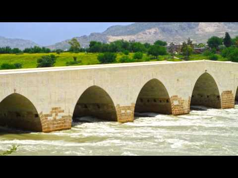 Misis Bridge, a historical bridge in Adana Province, Turkey
