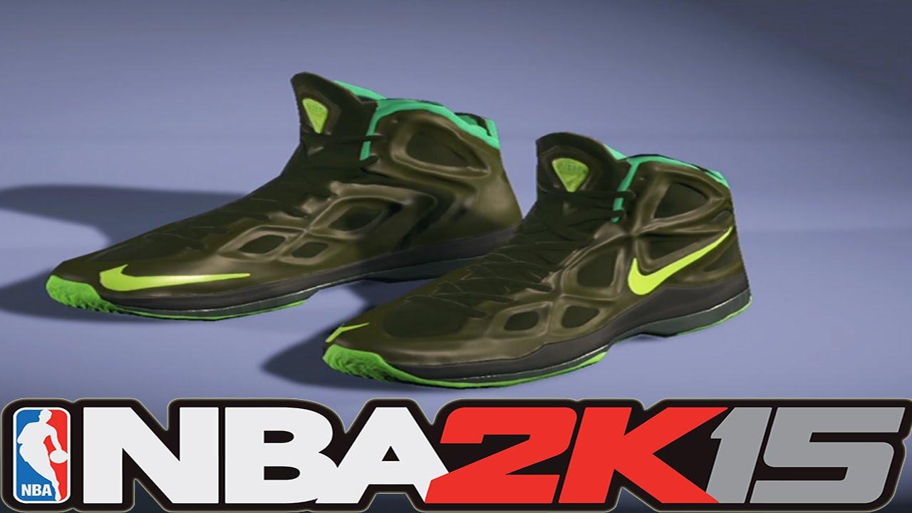 #NBA2K15 Next Gen Shoes - Nike Hyperposite 2 Rough Green