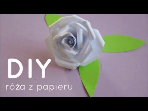 Jak Zrobic Roze Z Papieru How To Make Paper Roses Tutorial Youtube