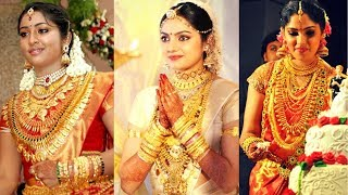South Indian Actress Wearing traditional Gold Jewellery on their Marriage. celebrity wedding jewelry