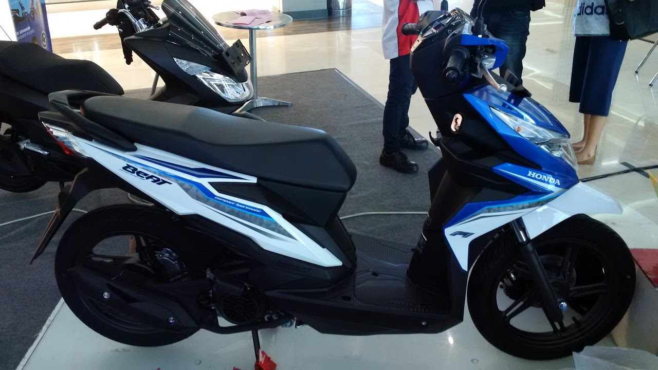 Sekilas All New Honda Beat ISS Biru Putih YouTube
