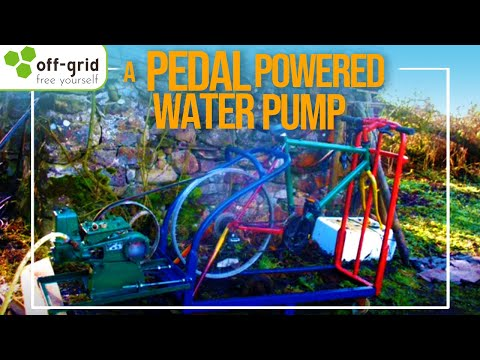 Off Grid Pedal Powered Water Pump Youtube