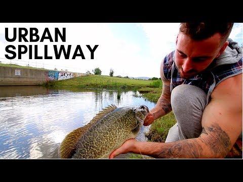 Fishing A Small Urban Spillway