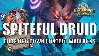 Spiteful Druid bursting down Control Warlocks