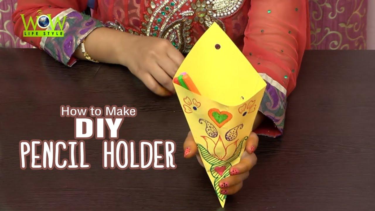 Quick easy scrapbook ideas - Diy Crafts Multi Purpose Pencil Holder With Paper Easy Scrapbook Ideas For Kids
