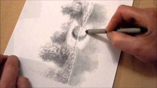 How to draw reflections in water using graphite pencils
