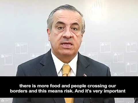 Message from the Ministers of Agriculture and Health of Chile, RIMSA 16