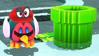 Super Mario Odyssey - All 8-Bit Warp Pipes