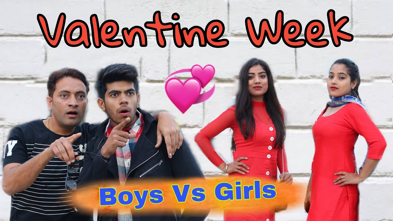 Boys Vs Girls At Valentine Week|| comedy Video || Pardeep Khera
