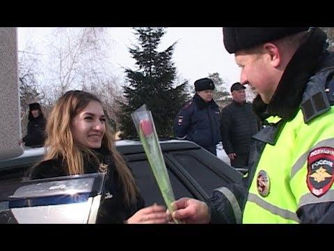 Цветы от инспекторов ГИБДД в Алексеевке