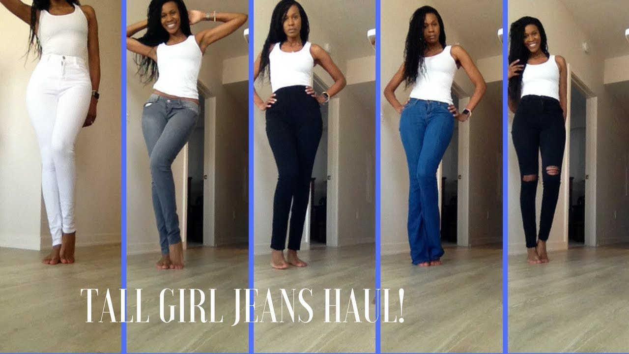2d5a677d4c8 Jeans for Tall Women 5 11 and up - YouTube